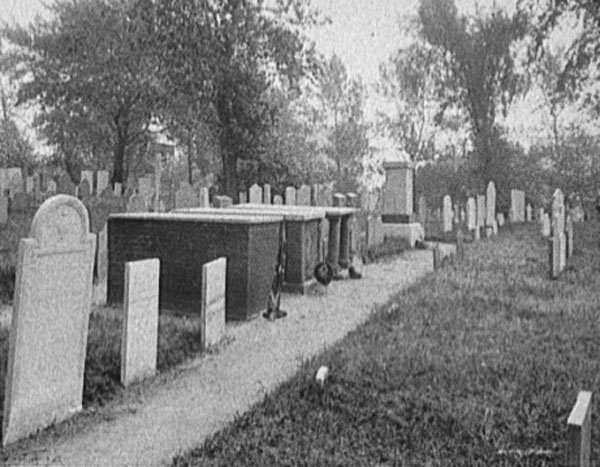 image of the cemetery tombs