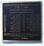 Portland Head Light Plaque