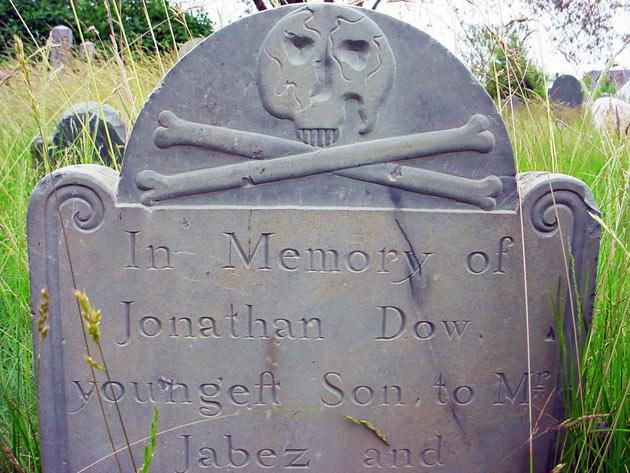 Jonathan Dow's headstone