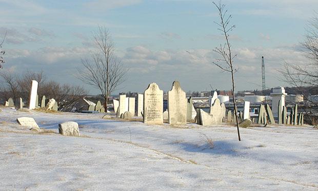 snowy Eastern Cemetery