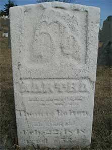 Martha Bolton Headstone Top