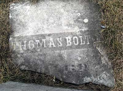 Thomas Bolton Broken Headstone Top