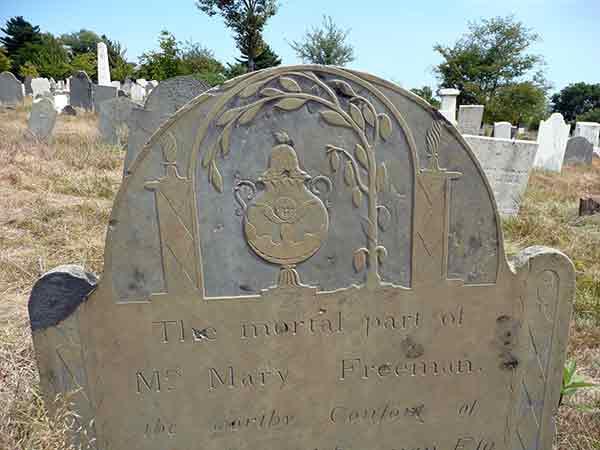 Mary Freeman's headstone