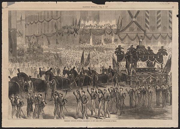 Harper's Print of Lincoln Funeral Procession
