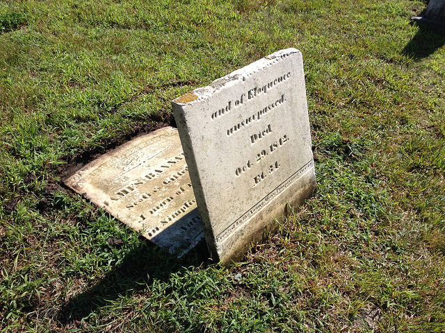 Bannatyne headstone after cleaning