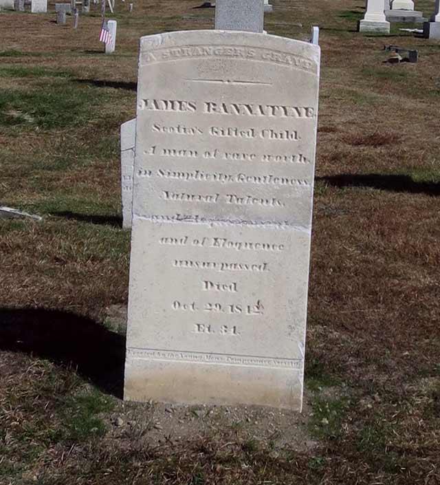 James Bannatyne headstone