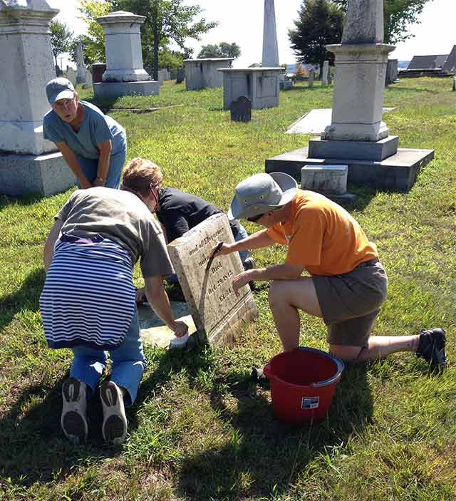 Bannatyne headstone getting lots of attention