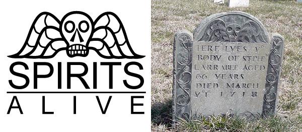 logo and Larrabee headstone