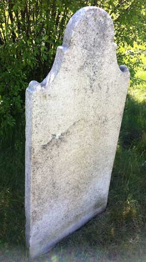 before Hannah Waterhouse's stone was cleaned